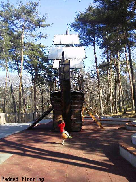 Pirate Ship in the athletic playground of Shinrin Park Musashi Kyuryo National Park