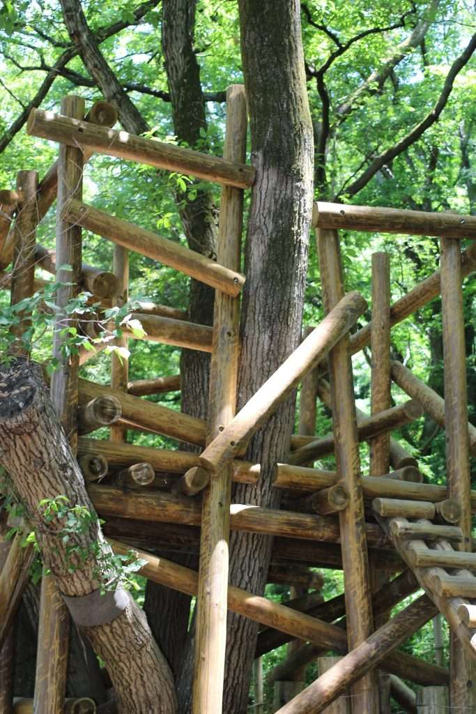 Tree house in Moomin Valley Akebono Children's Forest Park Hanno