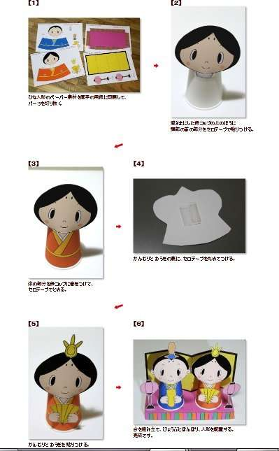 How to make the paper cup dolls