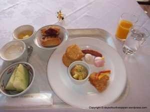 A mix of Japanese, European and Irish breakfasts Maternity hospital stay Japan