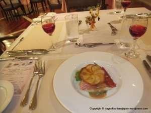 Contemporary French cuisine. Filet de Poisson fraisen Poeler
