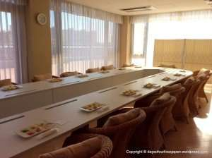 Hospital discharge meeting on the 5th floor Maternity hospital stay Japan