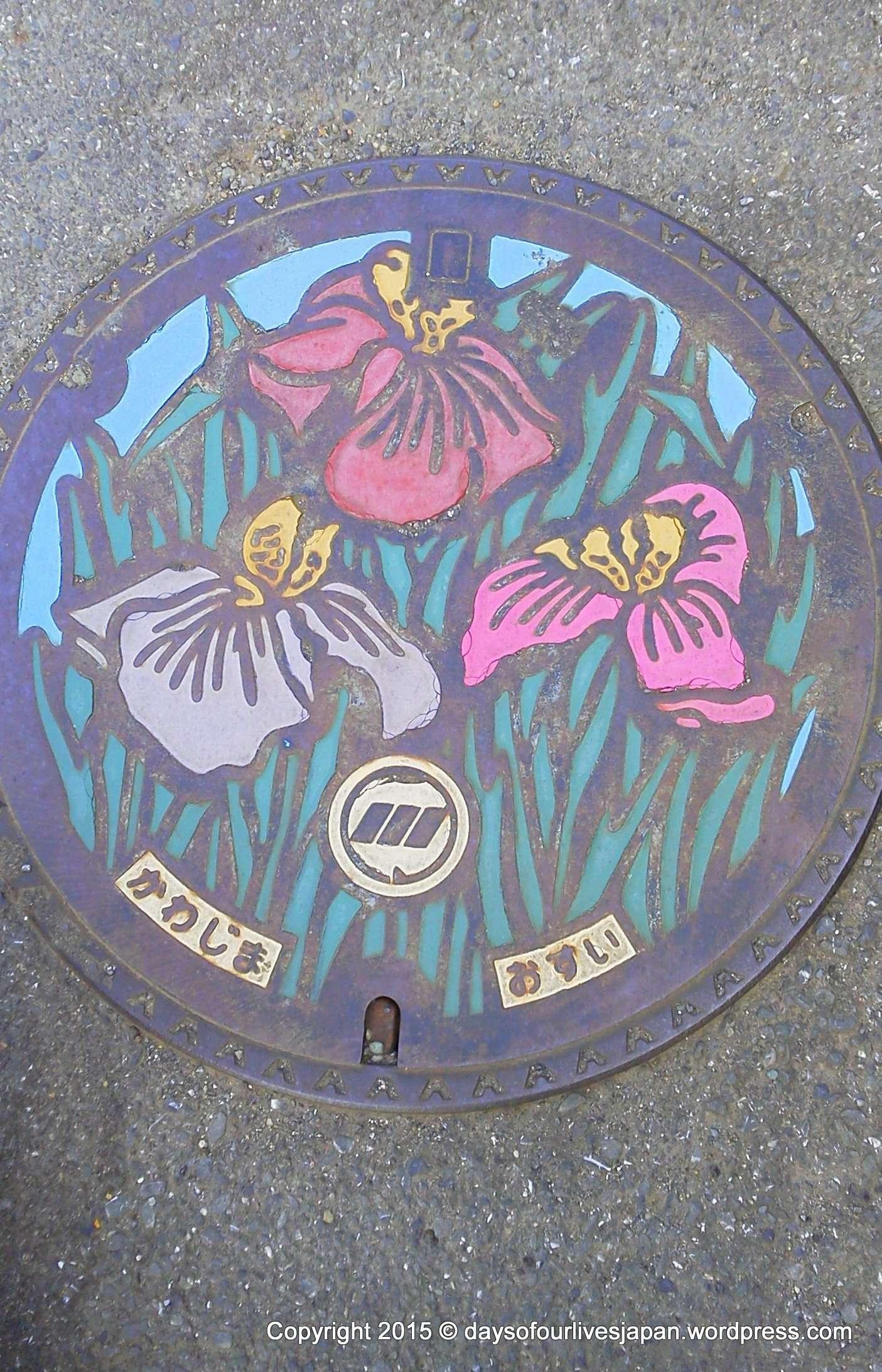 Manhole cover art Saitama