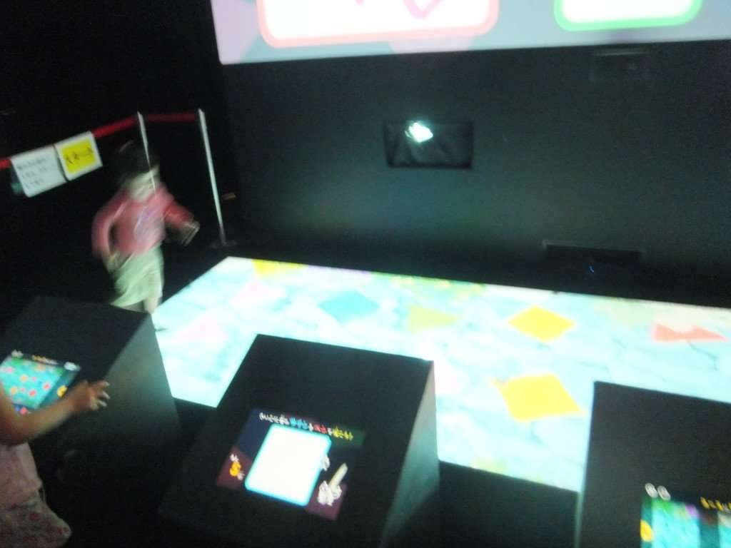 Team lab stepping stone touch screen