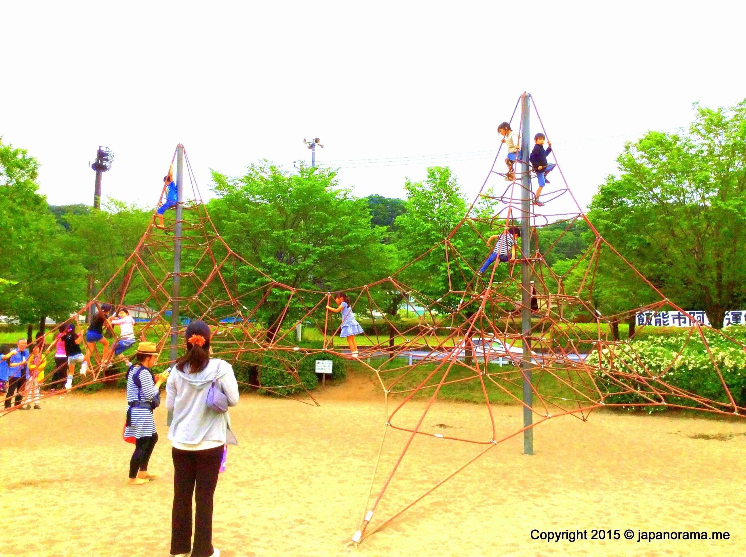 Spider web climbing frame Asu Park Hanno