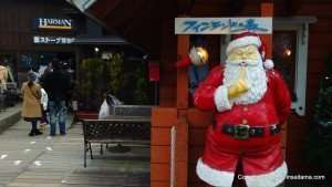 People queuing up to see the real Santa