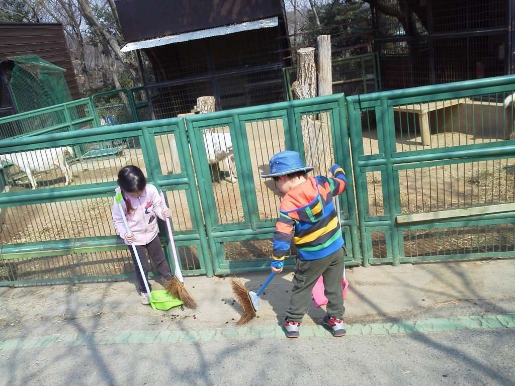 You can scoop animal poop at the Saitama Children's Zoo animal nature park