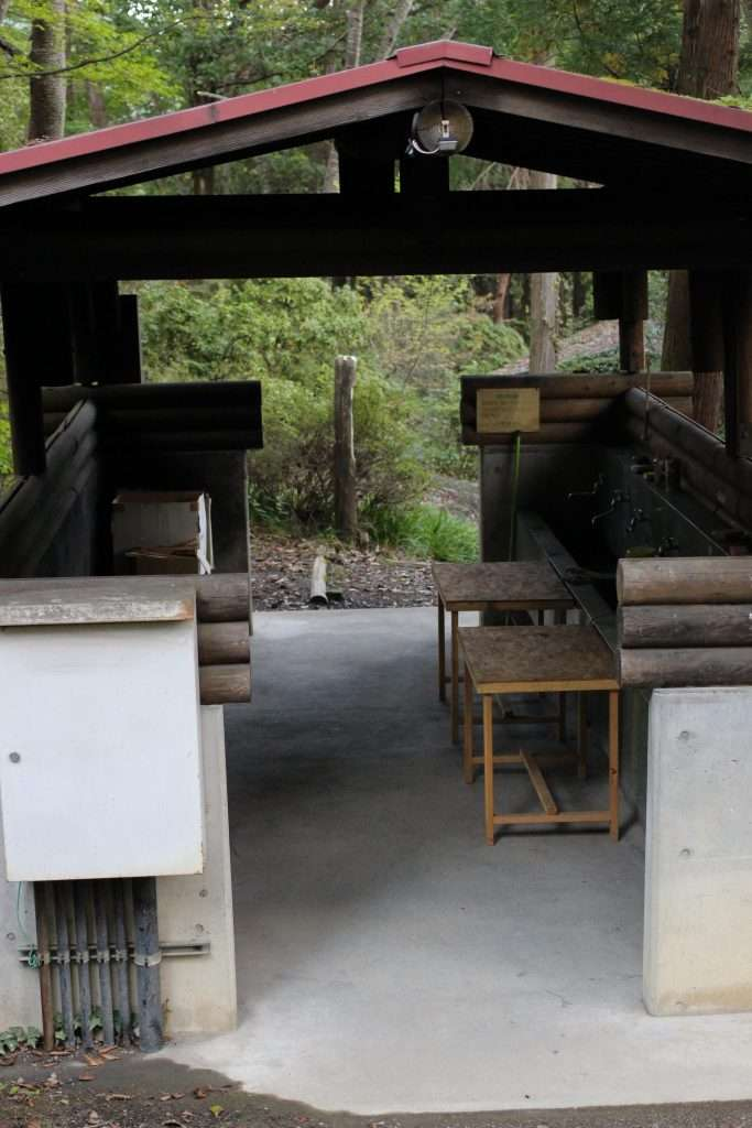 Midori No Mura Campsite sinks and prep tables