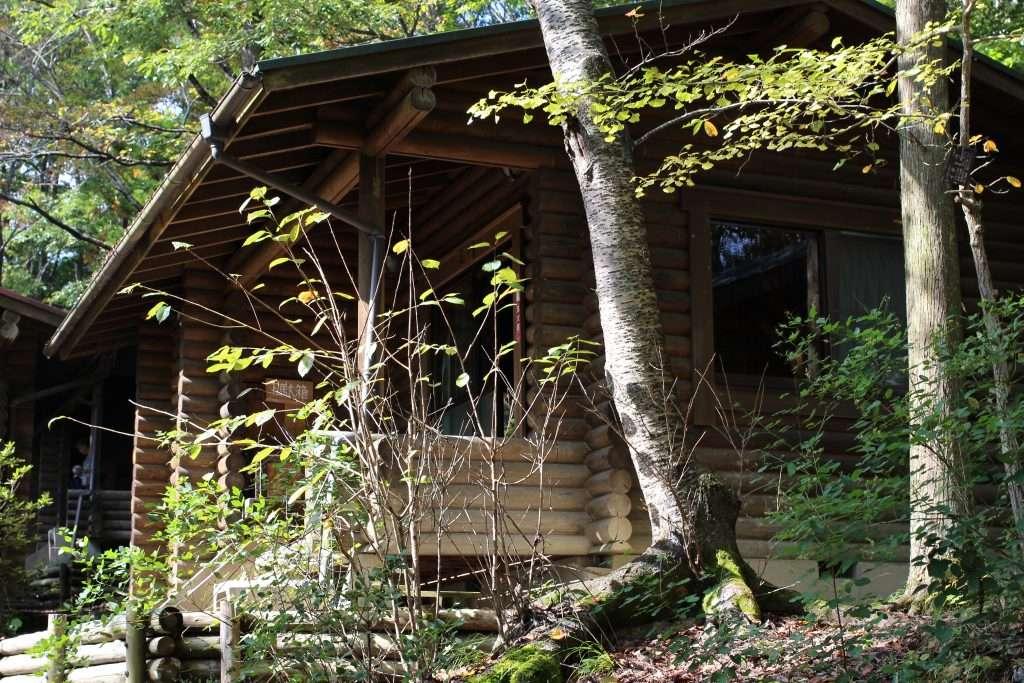Our log cabin in Midori No Mura campsite