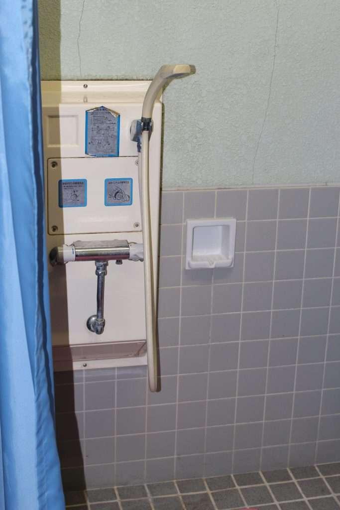 Showers in Midori no mura campsite