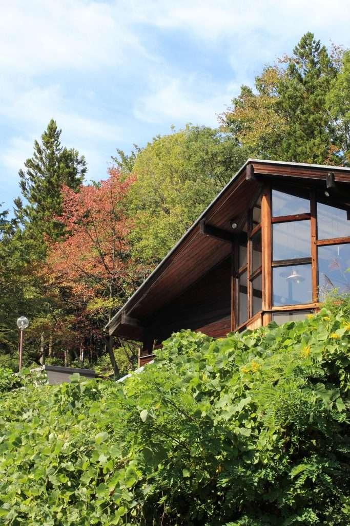 Midori No Mura Campsite Management office from below