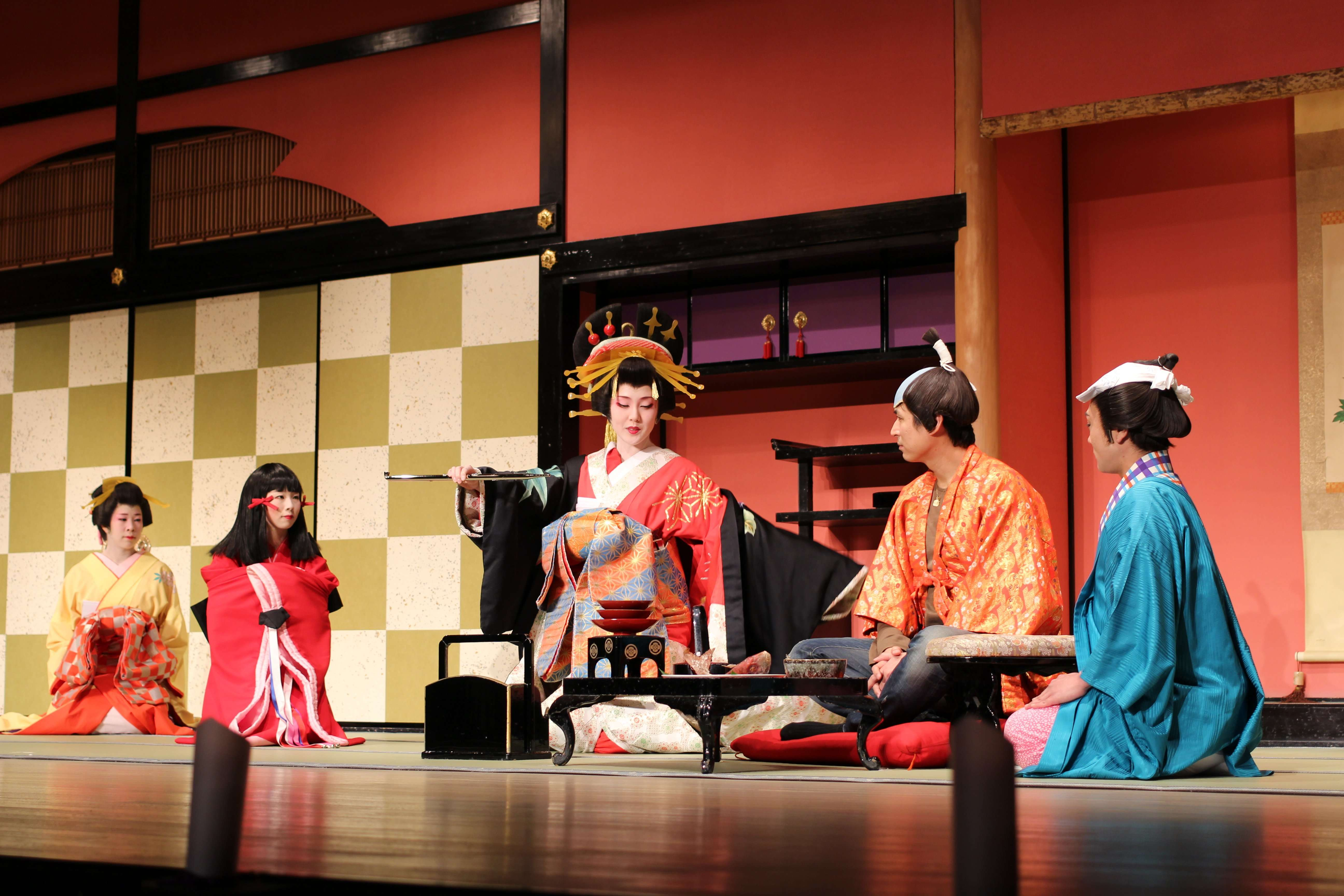 Geisha show: an acting Geisha demonstrates the ways of the geisha