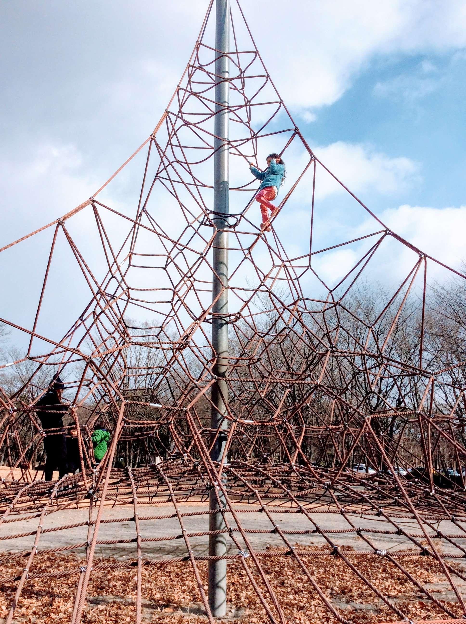 Spider climbing frame at Nasunogahara in Nasushiobara