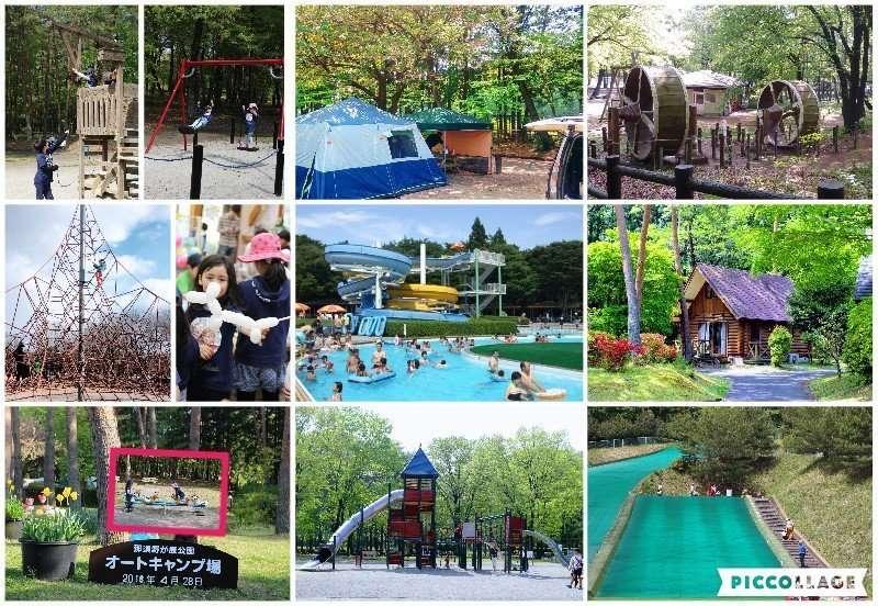 Camping in Japan. Information for the Nasunogahara campsite in Nasu No Gahara park in Tochigi