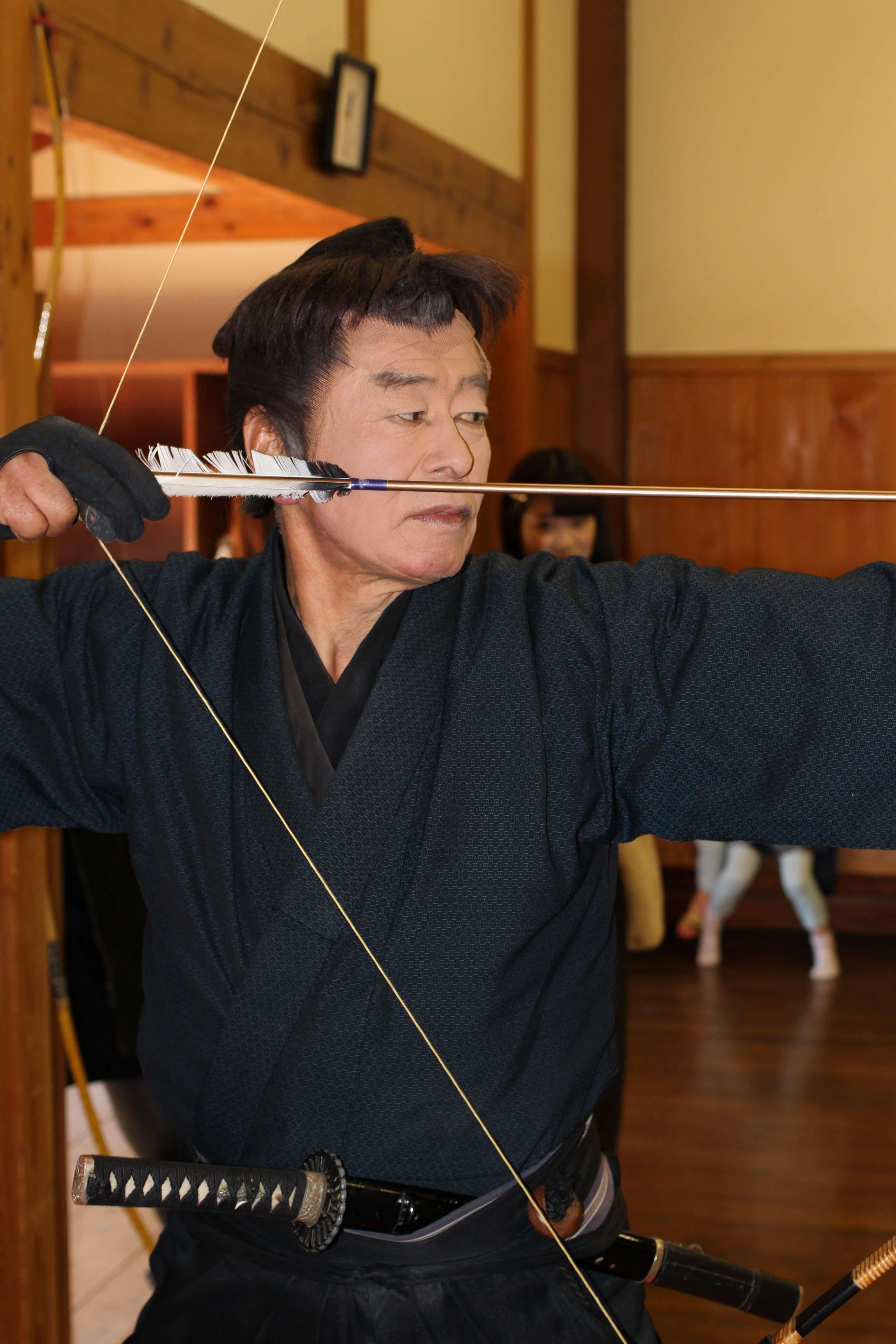 Samurai (acting) demonstrating Japanese archery