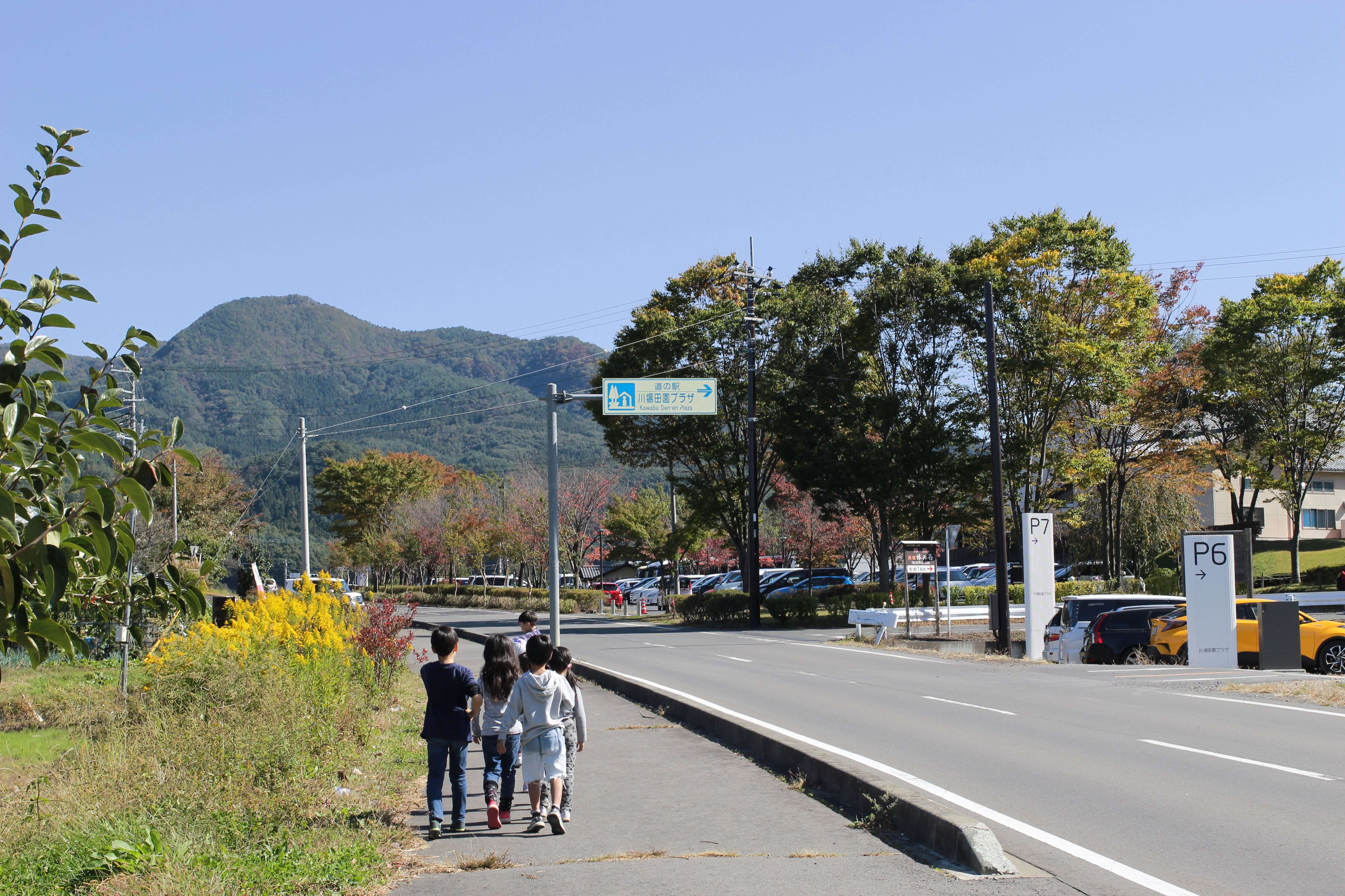 Akari Campsite on the side of a road, opposite parking 6 and 7 of Kawaba Denen Plaza