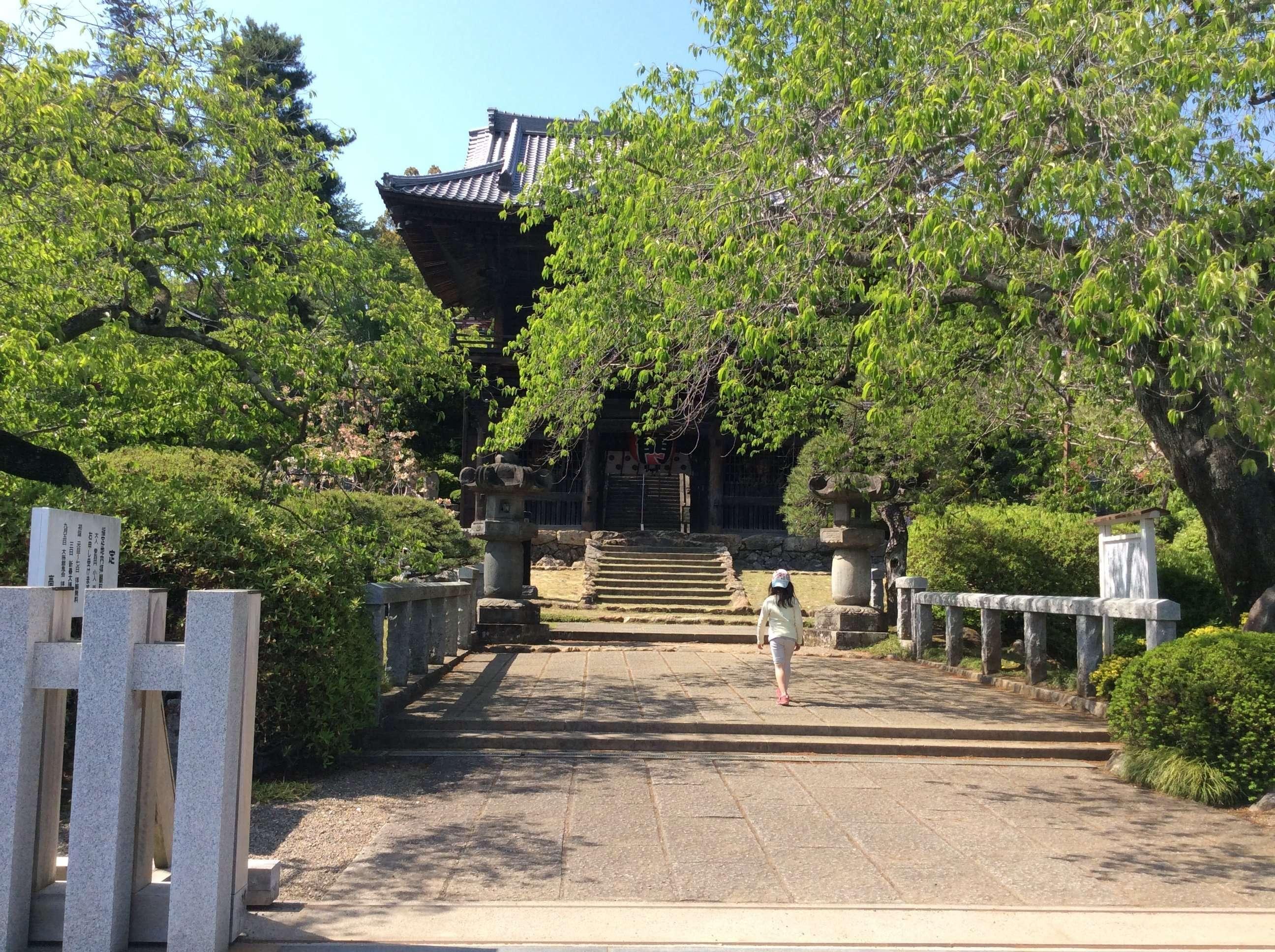 Bridge leads to the ancient gate of Shoden Temple, Hidaka, Saitama. shotenin