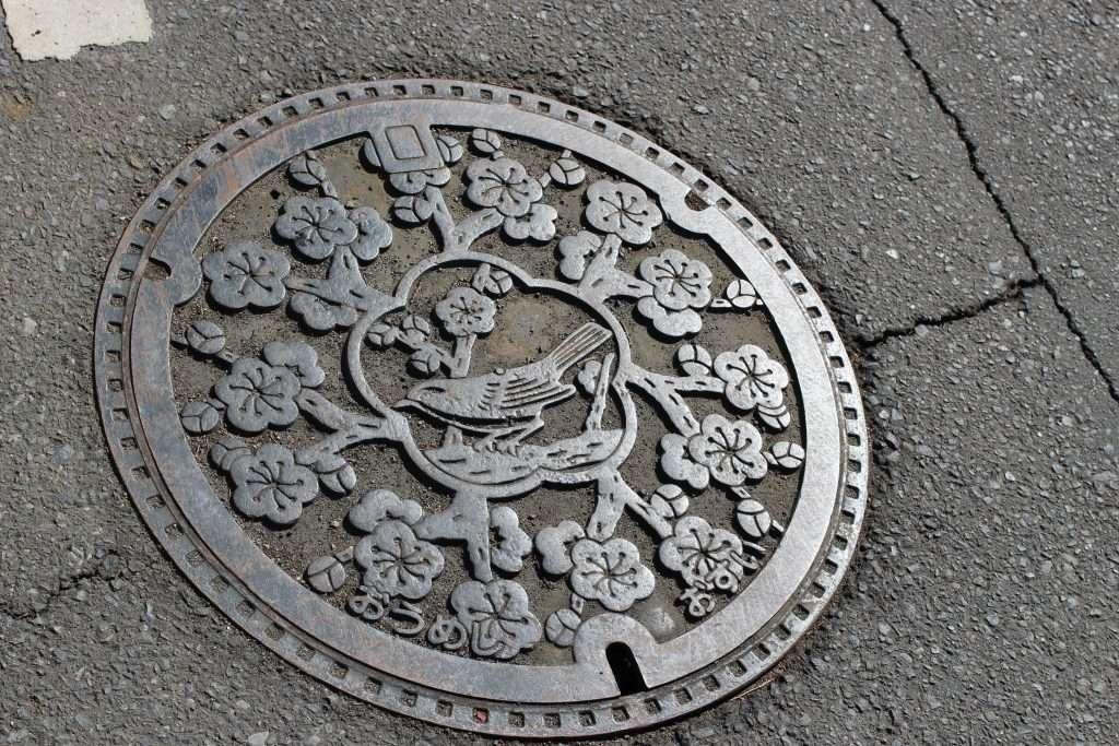 Ome Manhole Cover Rose Town Tea Garden