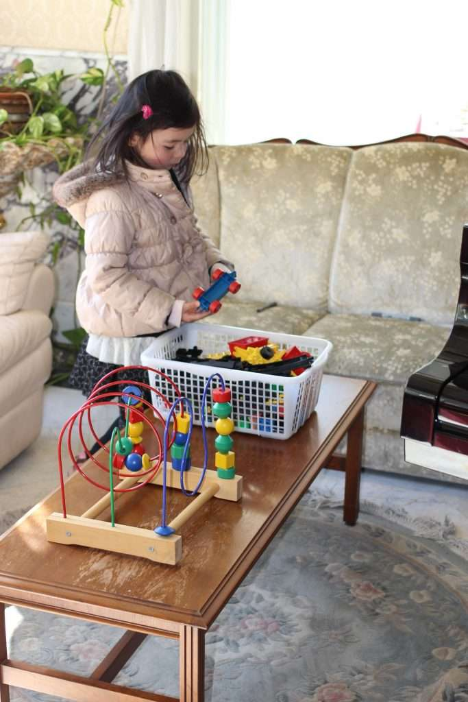 Toys for kids to play with at Rose Town Tea Garden Ome