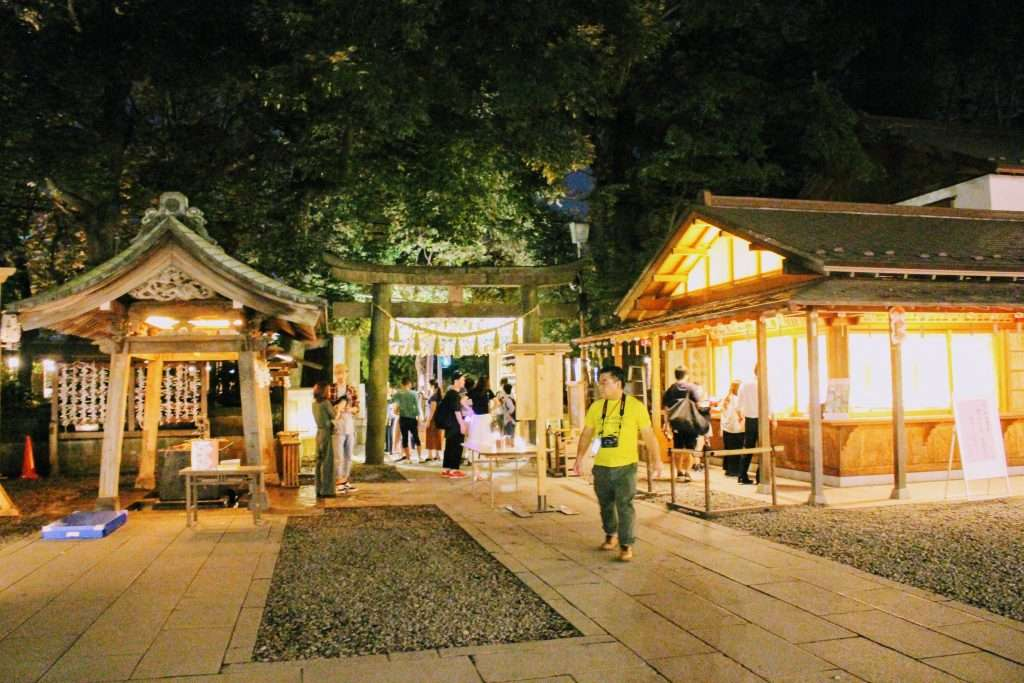 Hikawa shrine by night