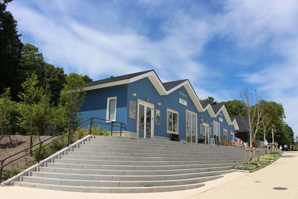 The Nordics blue building at Metsa beside funmock  insaitama.com