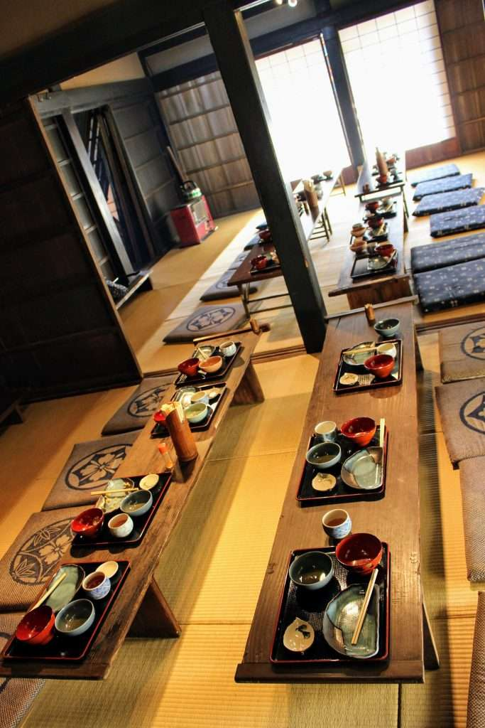 Traditional lunch at Yoshida folk house