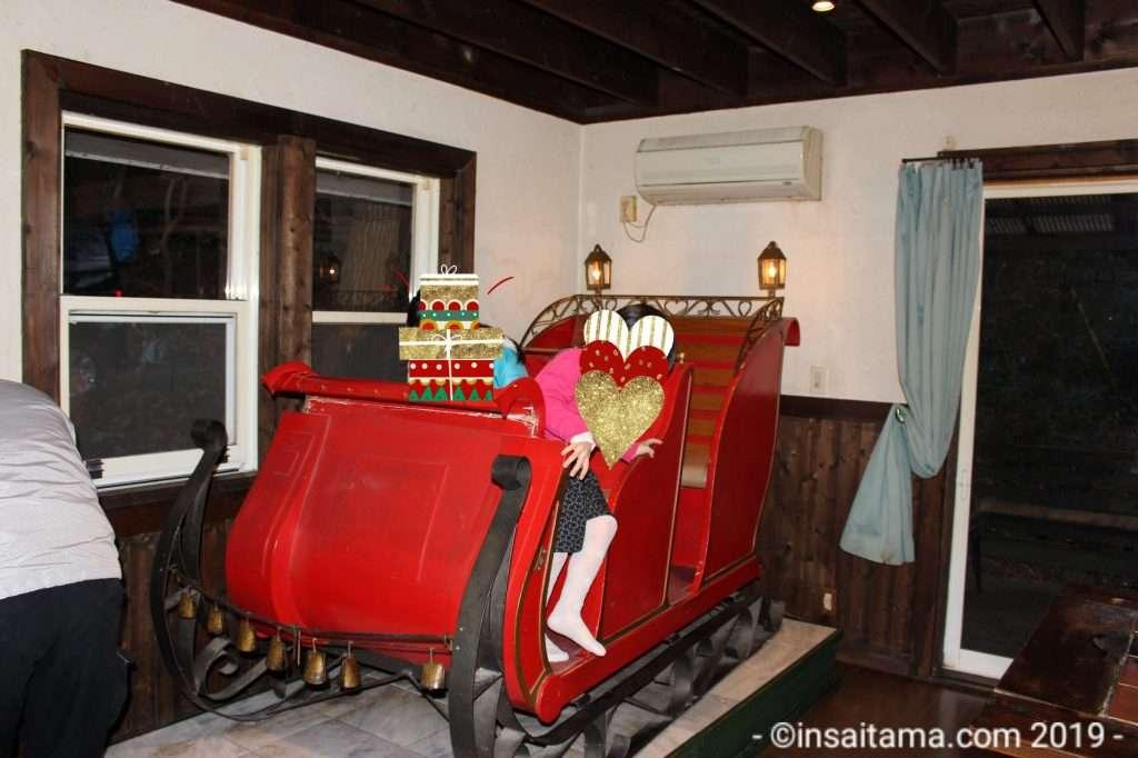 Santa sleigh in Santa House Tochigi