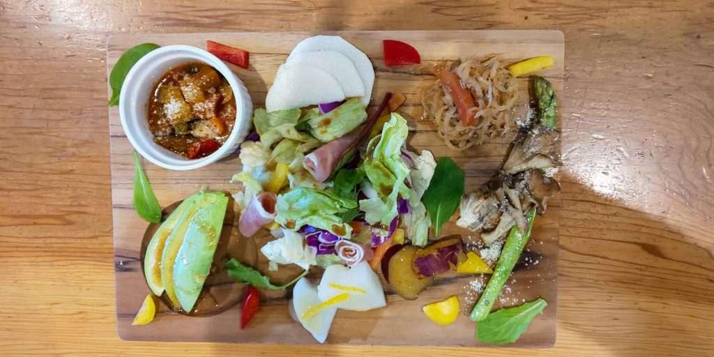 Vegetable Plate at Yururi Cafe kawagoe