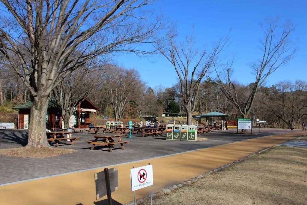 Rest area shinrin park musashi kyuryo national government park