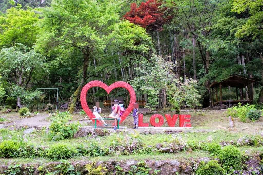 The love statue at former Kuroyama Kosenkan