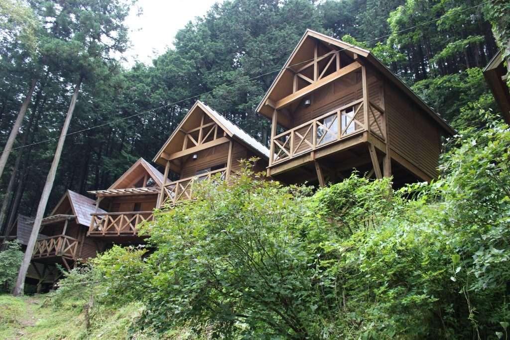 Cabins at Kinomura camp Tokigawa