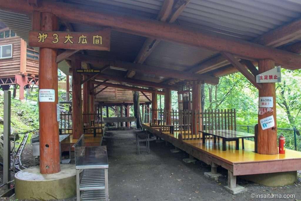 bbq area otaki tsuchiuchi camping ground chichibu
