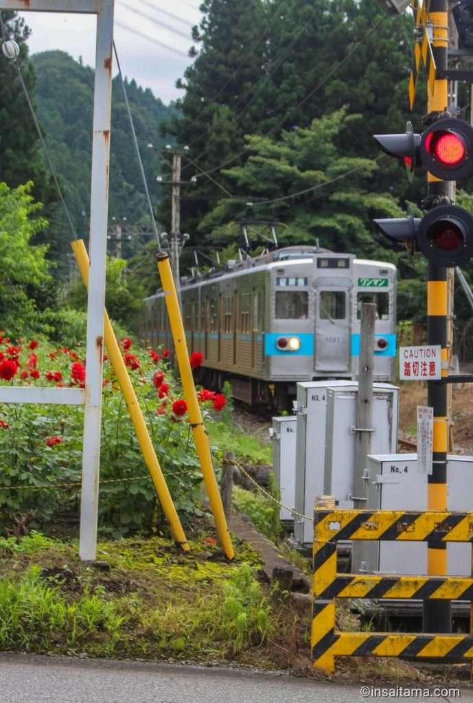 Chichibu tetsudo at the Arakawa Roadside station