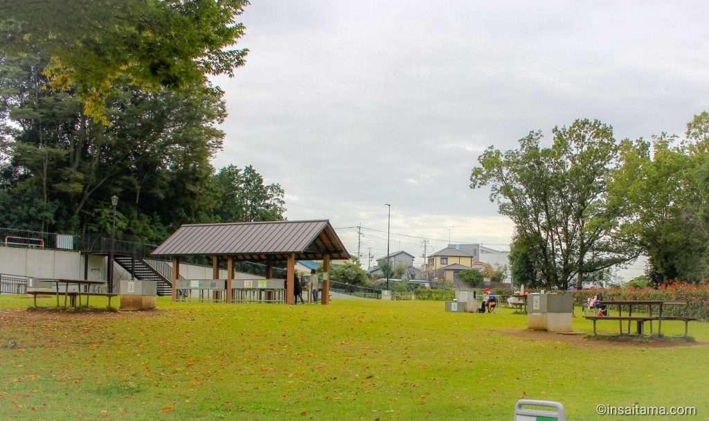 Shiroyama Park BBQ area