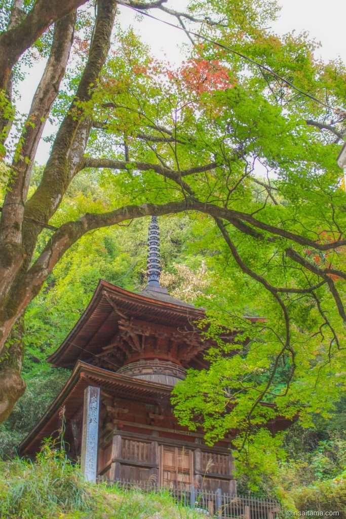 Taho tower the pagoda of Kanasana Shrine Kamikawa