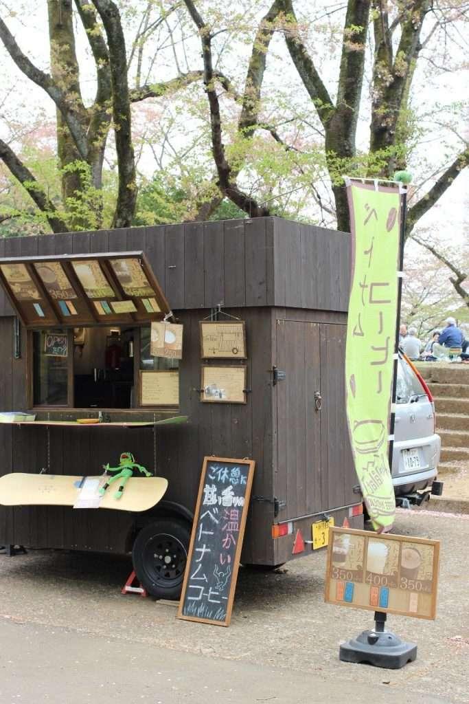 Food van at Sayama Inariyama Prefectural Park