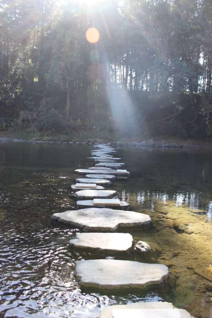 Ranzan Valley stepping stones
