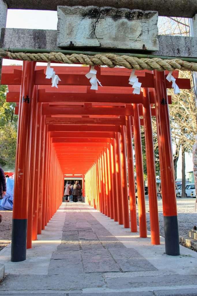 torii at yakyu inari the baseball shrine in higashimatsuyama saitama