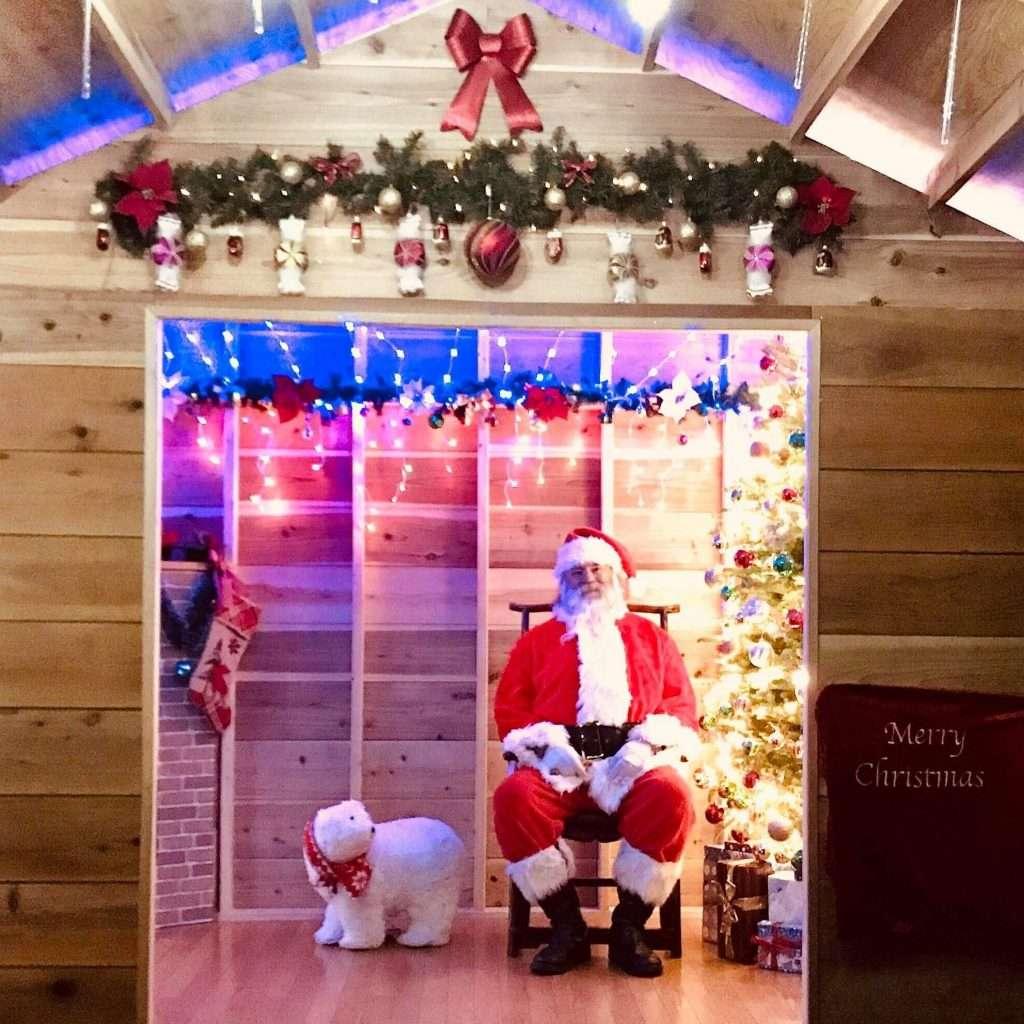 The real Santa Claus at Moose Family Camp Resort