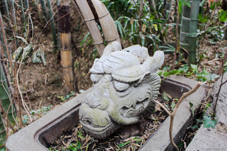 Dragon's head at Tokushoji Temple Ageo Saitama