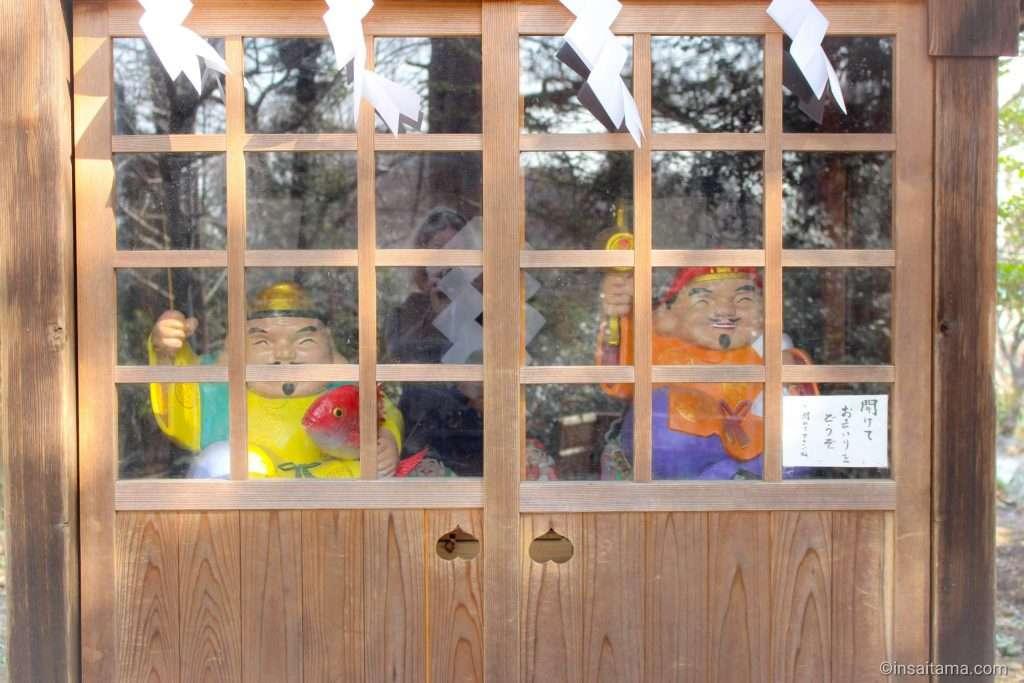 seven lucky gods at Takao Hikawa shrine