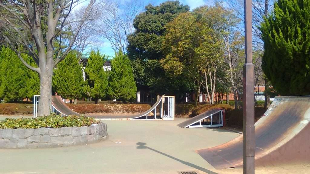 Skate park at Big Turtle SEngenyama park Fukaya
