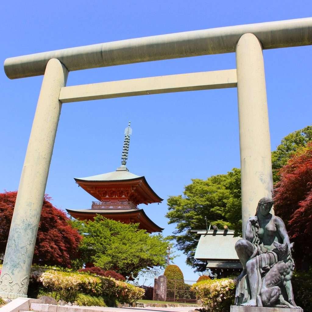 Japans tallest pagoda in saitama city