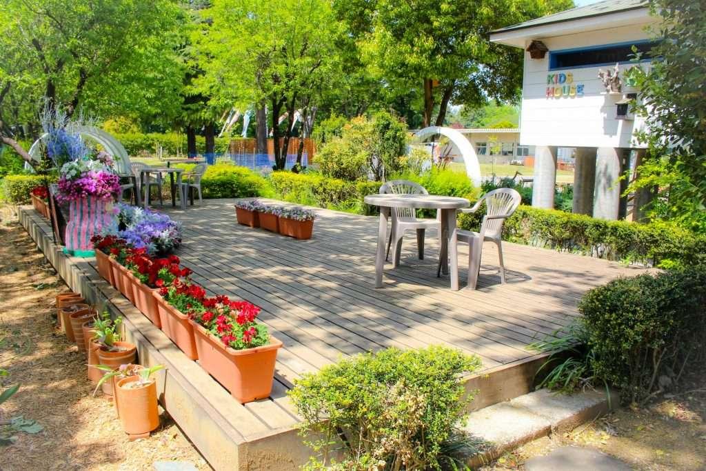kids tree house and rest area at Fukaya Green Kingdom