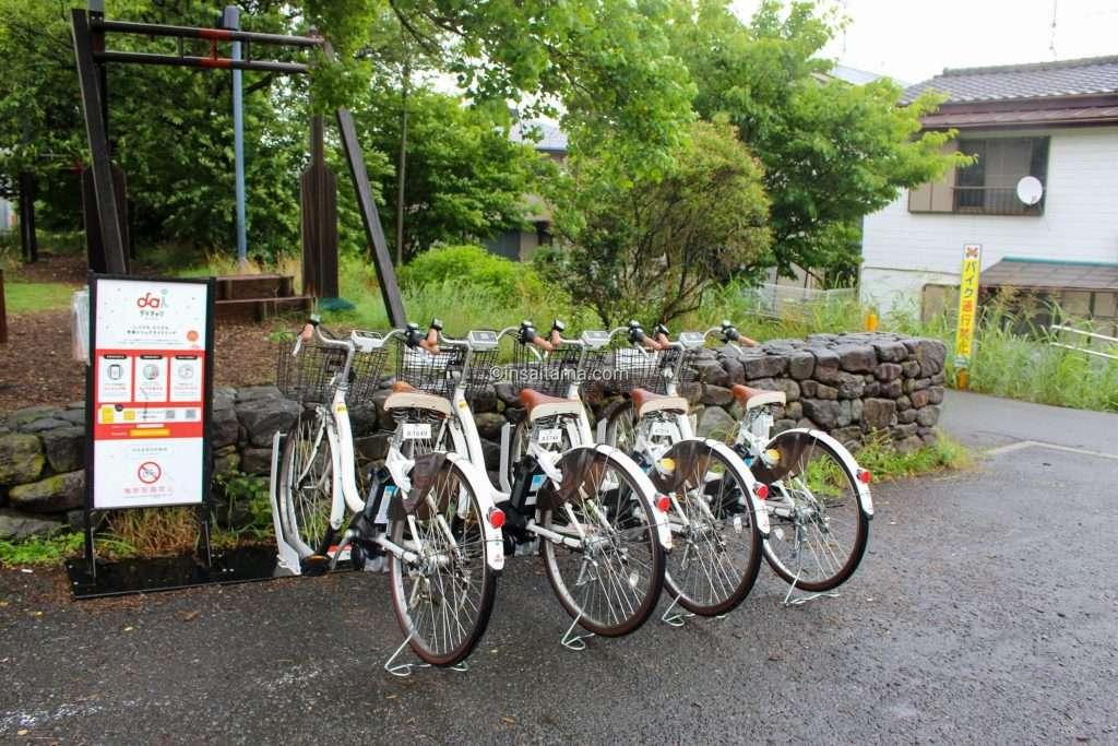 bicycle rental at Iroha water park in Shiki City