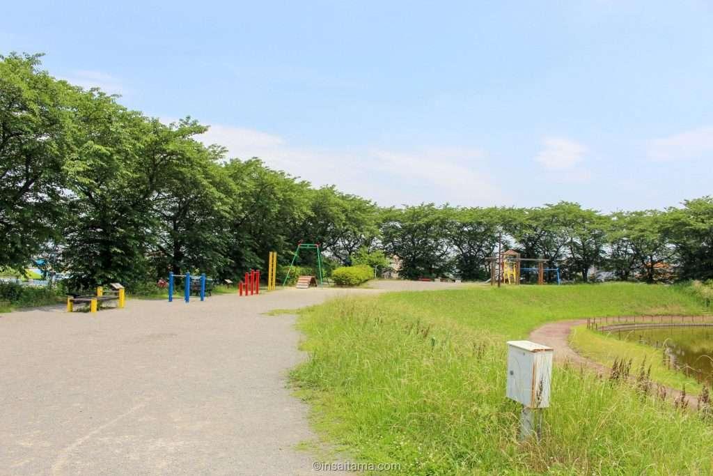 Playground at Shirasagi Park in Kuki city