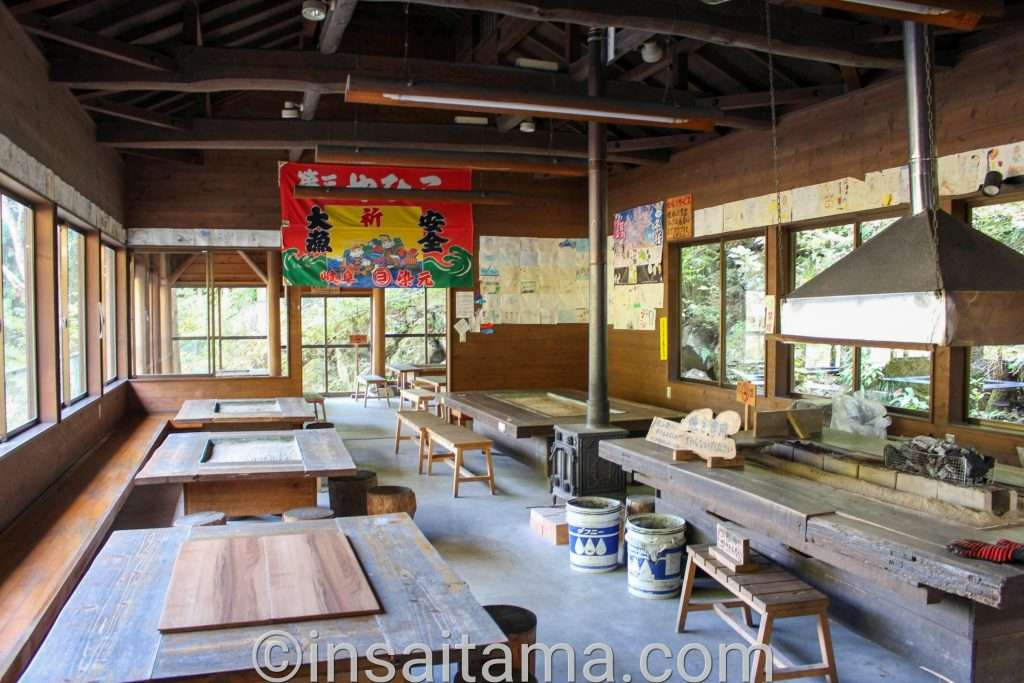 yano fishing park indoor eating area where they grill your fish