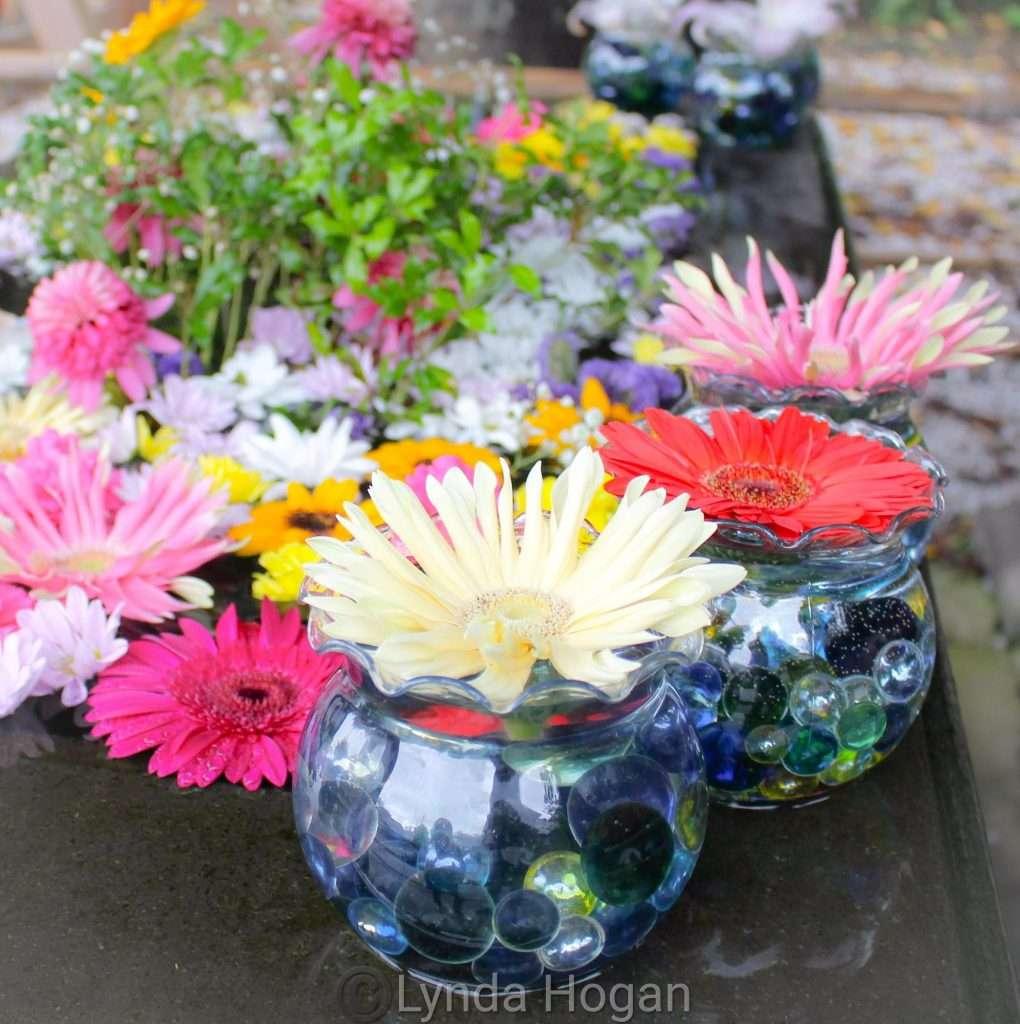 a unique floral font display at Sakitama Shrine